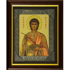 Икона в киоте (БПлюс) 16х20, шелкография, посеребренная риза, фото 1
