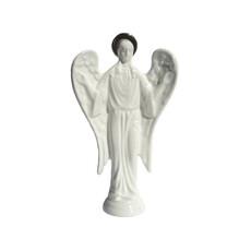 Ангел, фигура керамическая с золотым нимбом, малый, высотой 14,5 см (в уп.- 2 шт.), фото 1