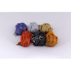 Гайтан с люрексом с замком, разных цветов, длиной 70- 75 см (в уп. - 50 шт.), фото 1
