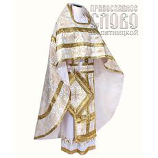 Облачение иерейское, белое с золотом, 90-145 шелк в ассортименте, фото 1