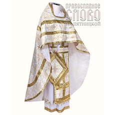 Облачение иерейское, белое с золотом, 90/150 шелк в ассортимент, фото 1