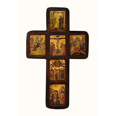 Распятие деревянное (Нпл) B 152, 36х21,5, многочастное (6 икон), с ковчегом, фото 1