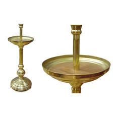 Подсвечник храмовый латунный Песочный, малый, детский, фото 1