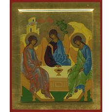 Икона шелкография (Хл) 16х19, золотой фон, сложная, поталь, с ковчегом, фото 1