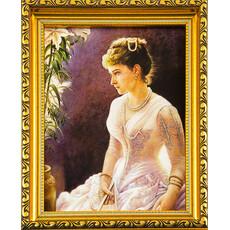 Портрет (Гай) 15х20, холст, портреты святых, в пластиковой раме без стекла, фото 1