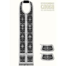 Требный комплект, черный с серебром, шелк в ассортименте, длина 145 с, фото 1