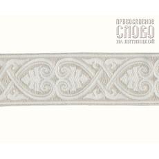 Галун Афина белый с серебром, 40 м, фото 1