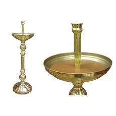 Подсвечник храмовый латунный Песочный, фото 1