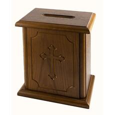 Кружка-ящик для пожертвований деревянная средняя, мдф, шпон дуба, 23 х 19 х 14 см,127013, фото 1