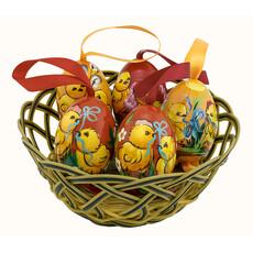 Яйцо пасхальное деревянное Цыпленок, высотой 7 см (в уп.- 5 шт.), 21018, фото 1