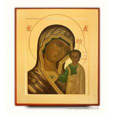 Икона шелкография (Хл) 30х40, золотой фон, поталь, с ковчегом, фото 1