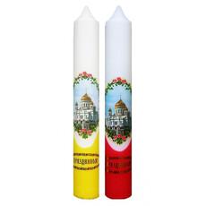 Свеча диаконская с деколью Храм ~, фото 1