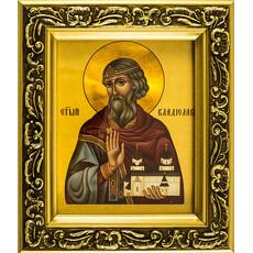 Икона в раме (Мк) 14х15, багет деревянный (В), под стеклом, ИМЕННЫЕ, фото 1