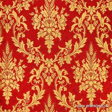Парча,  греческая красная Синайская, ширина 150 с, фото 1