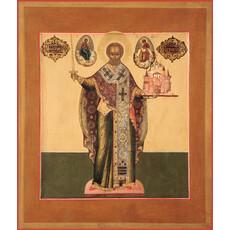 Фото: Николай чудотворец, архиепископ Мир Ликийских, святитель, икона  (код. 0053)