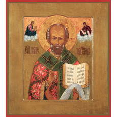 Фото: Николай чудотворец, архиепископ Мир Ликийских, святитель, икона  (код. 0086)