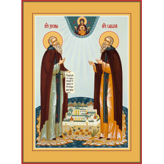 Фото: Зосима и Савватий Соловецкие преподобные, икона (арт.063)