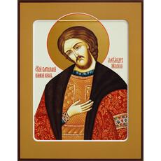 Фото: Александр Невский благоверный князь, икона (арт.453) с-2