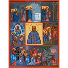 Фото: Рустик Парижский священномученик, икона (арт.500) с-2