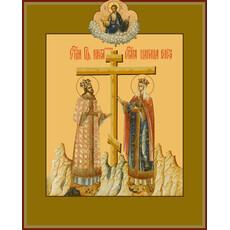 Фото: Константин и Елена равноапостольные, икона (арт.6424)