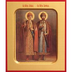 Фото: Борис и Глеб благоверные  князья-страстотерпцы, икона (арт.512)