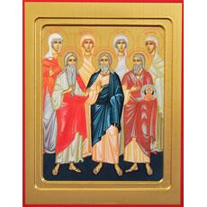 Фото: Авраам, Исаак, Иаков, праотцы икона (арт.443)