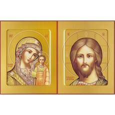 Фото: Венчальная пара икон Спас Вседержитель (арт.110) и Божия Матерь Казанская (арт.210)