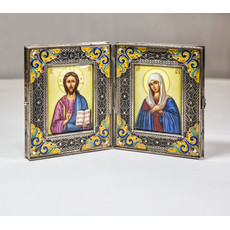 Фото: Складень. Господь Вседержитель и икона Божией Матери Умиление (арт.14301)