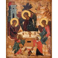Фото: Святая Троица с Авраамом и Сарой, икона (арт.133) с-2