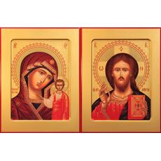 Фото: Венчальная пара икон Спас Вседержитель (арт.103) и Божия Матерь Казанская (арт.203)