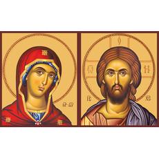 Фото: Венчальная пара икон Спас Вседержитель (арт.114) и Божия Матерь Деисусная(арт.214)
